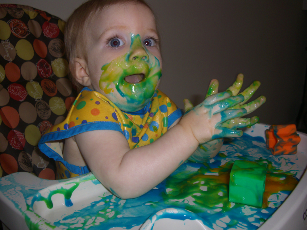 Edible Finger Paint Without Food Coloring