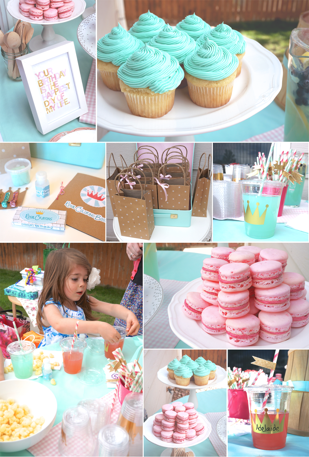 Mint, Pink and Gold Princess Party - The Caterpillar Years
