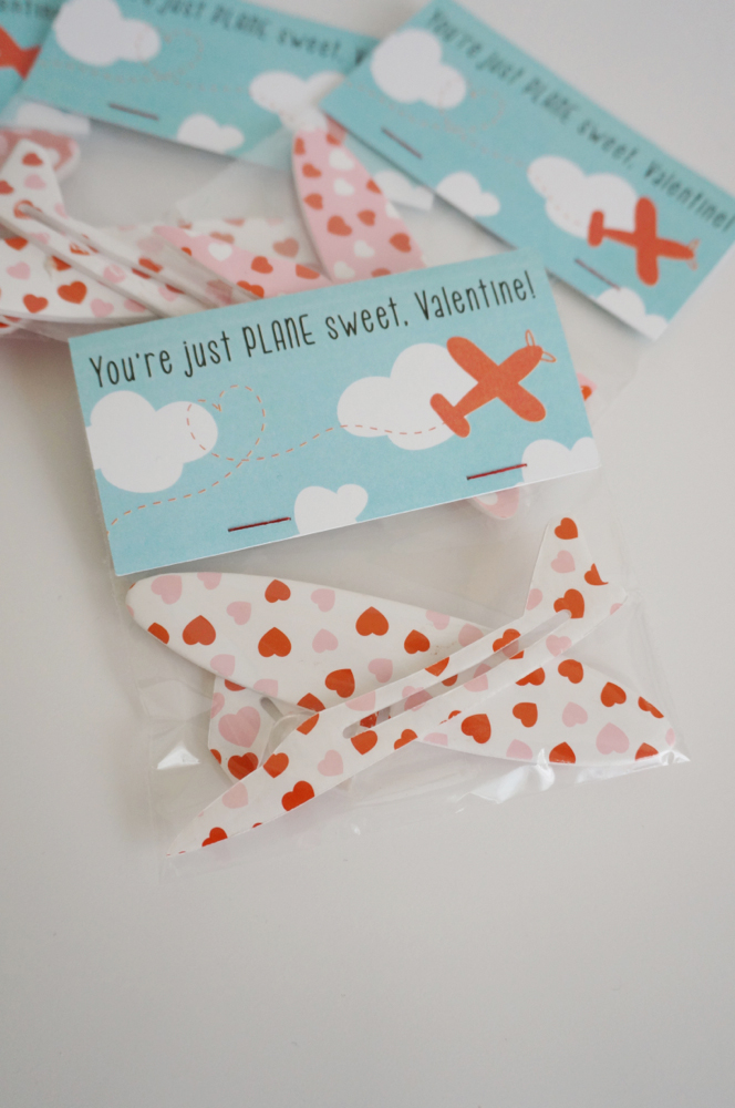 DIY Non-Candy Airplane Valentine - The Caterpillar Years