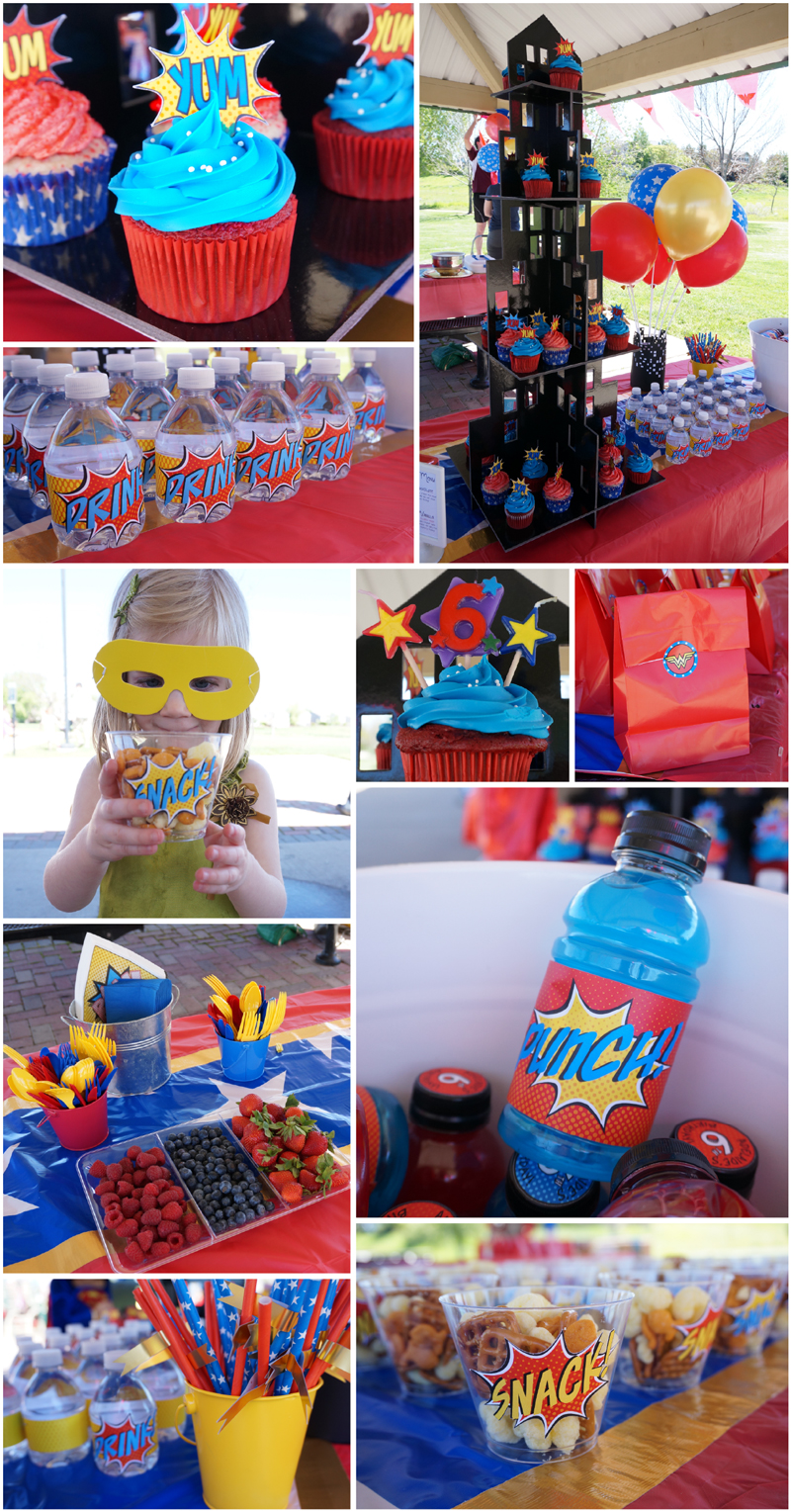 WonderWoman Superhero Party Collage 02 Birthday Cake Ideas For  Year Old Woman