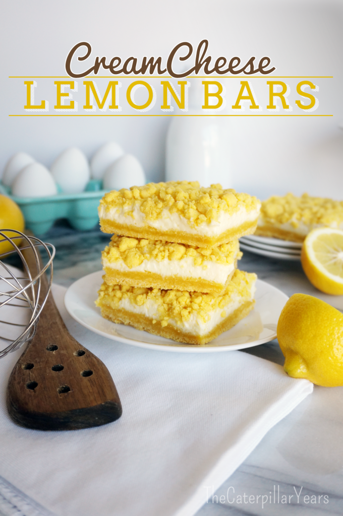 Cream Cheese Lemon Bars The Caterpillar Years