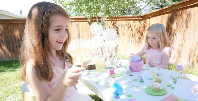Girls and Dolls Tea Party